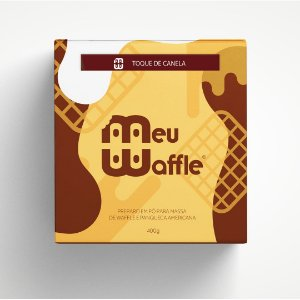 Preparo em pó para massa de Waffle e Panqueca Americana - Sabor Toque de Canela