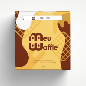 Preparo em pó para massa de Waffle e Panqueca Americana - Sabor 3 LEITES