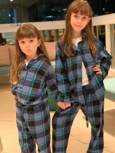 Pijama Flanelado Azul