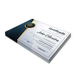 Certificados - Couchê Brilho 300g - 4x0