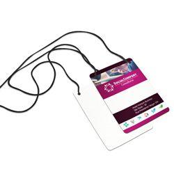 Credenciais para Eventos - 100x140mm em PVC - Cordão Nylon Preto 3mm