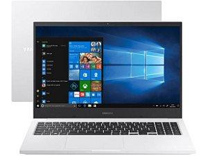 Notebook Samsung Book NP550 E20 Intel Dual Core Celeron, Windows 10 Home, RAM 4GB, HD 500GB, Tela 15.6'' HD LED, Prata