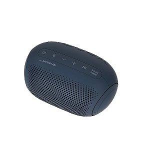 Caixa de Som Portátil LG Xboom Go PL2 Meridian, Bluetooth, 10 Horas Bateria, IPX5, Comando de Voz, 5W Azul