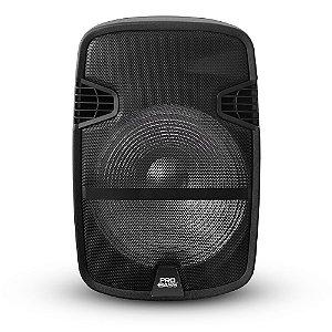 Caixa Acústica Ativa Pro Bass Street 12, Potência de 400W, Bateria Recarregável
