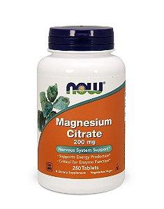 Citrato de Magnésio - 200 mg por Dose - 250 Tabs