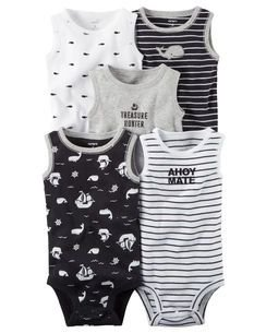 Kit Bodys Carters Regata - 5 unidades -  Ahoy