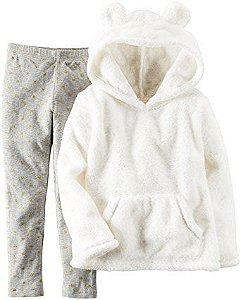 Kit com 2 peças Carters - Blusa em fleece Branca