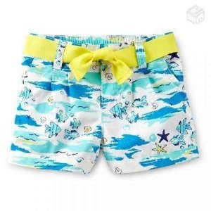 Short Carters - Praia Branco - 6 meses