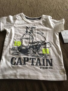Camiseta Carters - Captain - 18 Meses