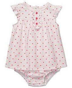 Vestido Carters Infantil - Branco - 24 Meses