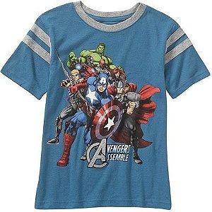 Camiseta Vingadores - Tamanho 4 anos