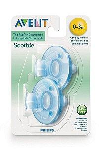 Chupeta Avent Soothie - 0/3 meses - Azul - 2 unidades