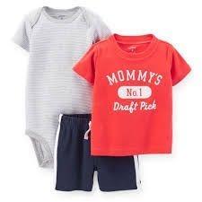 Kit com 3 Peças Carters - Mommys Vermelho
