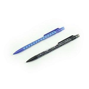 Kit Lapiseira 0,5 MB com 2 Unidades Azul e Preta Geométrica