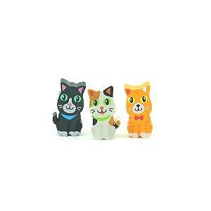 Kit Borrachas Animal Planet Gatinhos Fofos com 3 Unidades