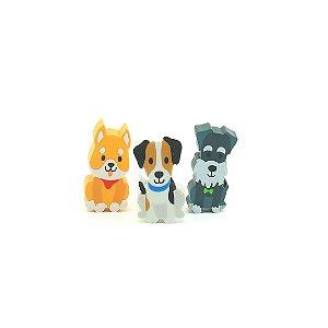 Kit Borrachas Animal Planet Cachorrinhos Fofos com 3 Unidades
