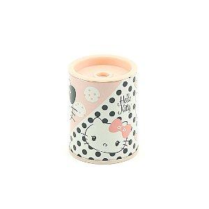 Apontador Metálico Hello Kitty Rosa com Poás Preta