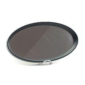 Bandeja Oval com Espelho Preta
