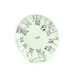 Prato em Cerâmica Tea Cat
