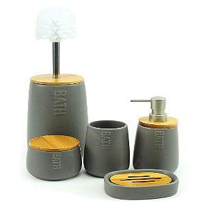 Kit para Banheiro com 5 Peças Natureza