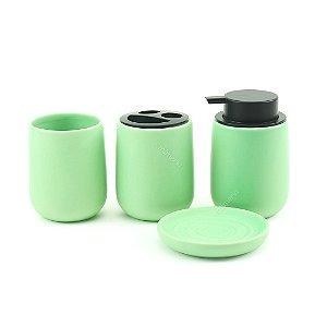 Kit Banheiro com 4 Peças Verde Menta