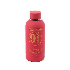 Garrafa Térmica Emborrachada Harry Potter Plataforma 9 3/4 400 ml