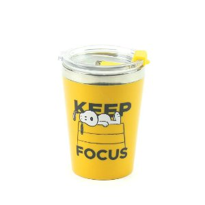 Copo Viagem Snap Snoopy Keep Focus 300 ml