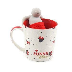 Caneca com Infusor para Chá Minnie