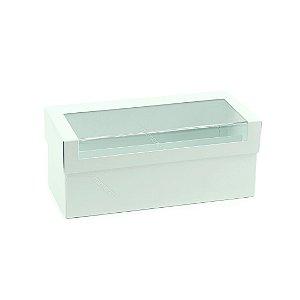 Caixa de Batom em Aço Transparente Branca