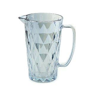 Jarra de Vidro Diamond Azul Metalizado 1 Litro