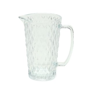 Jarra de Vidro Bico de Abacaxi Transparente 1 Litro