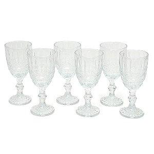 Conjunto de 6 Taças de Vidro para Bebidas Libélula Transparente