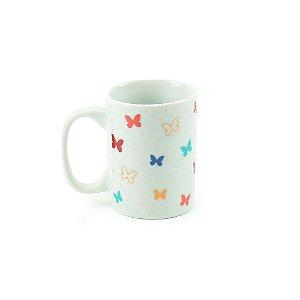 Mini Xícara de Porcelana Borboleta