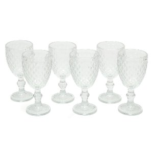 Conjunto de Taças de Vidro Vintage 6 Peças