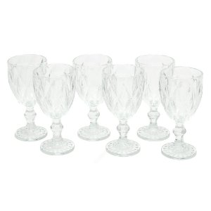 Conjunto de Taças de Vidro Diamond 6 Peças