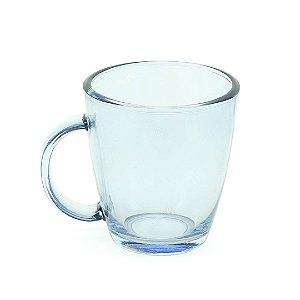 Caneca de Vidro Azul Candy 360 ml