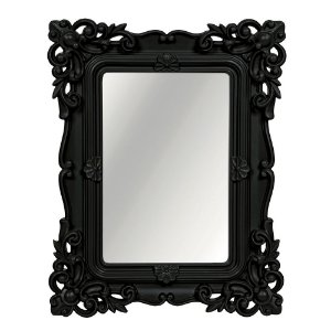Espelho Decorativo Rococó Preto 25x30