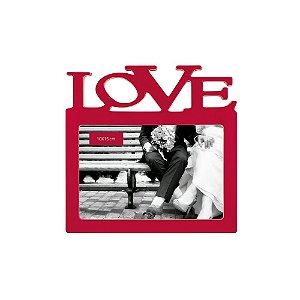 Porta Retrato Vermelho Love 10x15