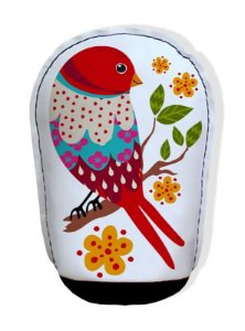 Almofada para Papel Pássaro Vermelho