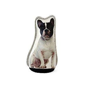 Peso De Porta Cachorro Bulldog Francês Preto e Branco