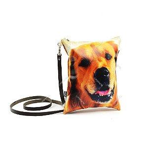 Bolsa Tiracolo Estampada Cachorro Golden Retriever