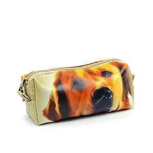 Estojo Estampado Cachorro Golden Retrirver