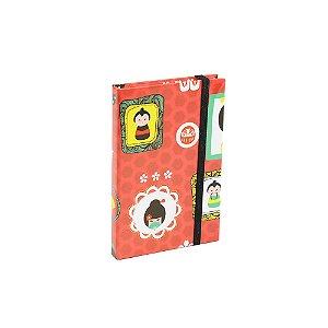 Caderninho Capa Dura com Elástico Gueixa da Sorte