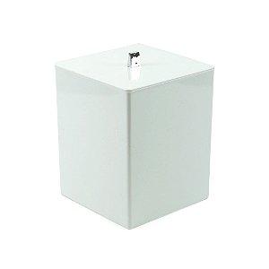 Lixeira Quadrada Branca Quadratta