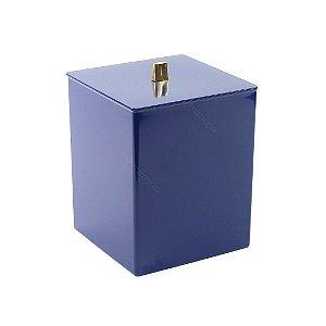 Lixeira Quadrada Azul Marinho Quadratta
