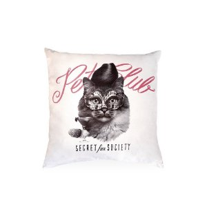 Almofada Pet Club Cat Rosa 45x45