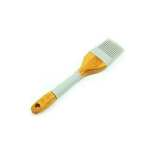 Pincel de Silicone e Bambu Candy Color Cinza