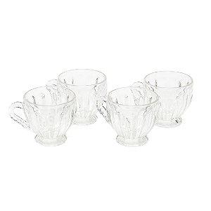 Conjunto de 4 Xícaras de Cristal de Chumbo Renaissance