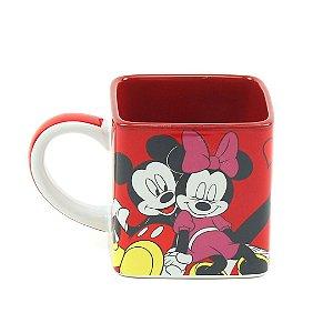 Caneca Cubo Decorativa Mickey e Minnie Namorados 300 ml