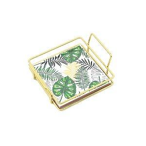 Bandeja de Ferro Origami Botânica Quadrada Pequena